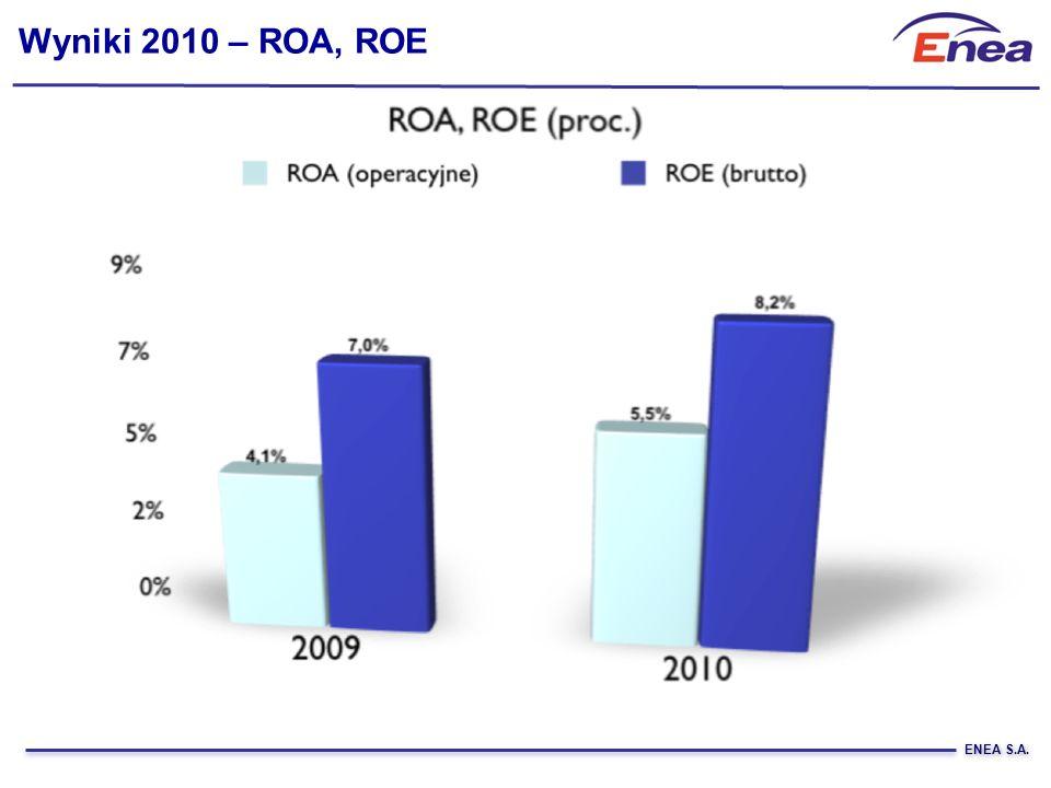 ENEA S.A. Wyniki 2010 – ROA, ROE