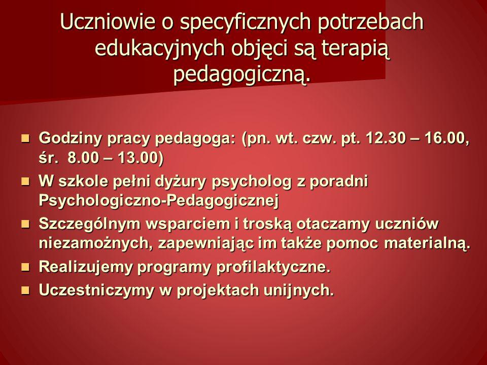 Kształtujemy u wychowanków poczucie odpowiedzialności, patriotyzmu oraz postawy szacunku dla polskiego dziedzictwa kulturowego przy jednoczesnym otwarciu na wartości innych kultur.