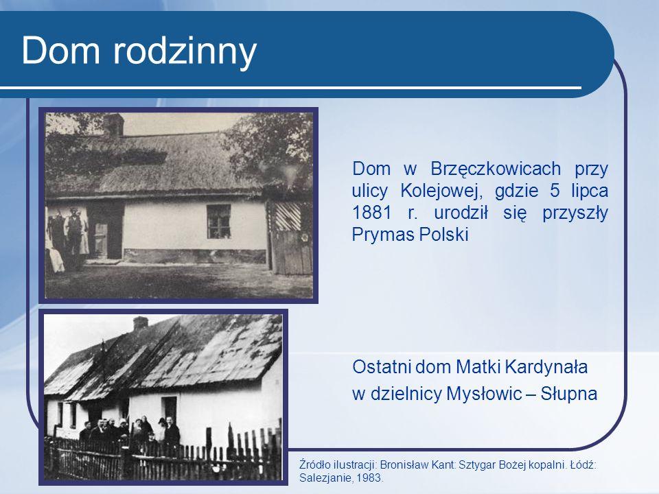 Dom rodzinny Dom w Brzęczkowicach przy ulicy Kolejowej, gdzie 5 lipca 1881 r. urodził się przyszły Prymas Polski Ostatni dom Matki Kardynała w dzielni