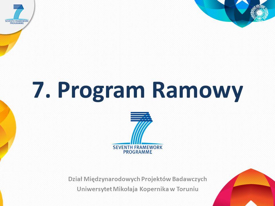 7. Program Ramowy Dział Międzynarodowych Projektów Badawczych Uniwersytet Mikołaja Kopernika w Toruniu