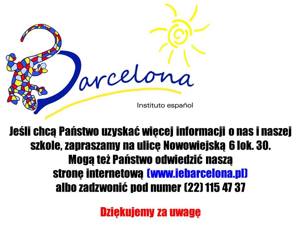Jeśli chcą Państwo uzyskać więcej informacji o nas i naszej szkole, zapraszamy na ulicę Nowowiejską 6 lok. 30. Mogą też Państwo odwiedzić naszą stronę