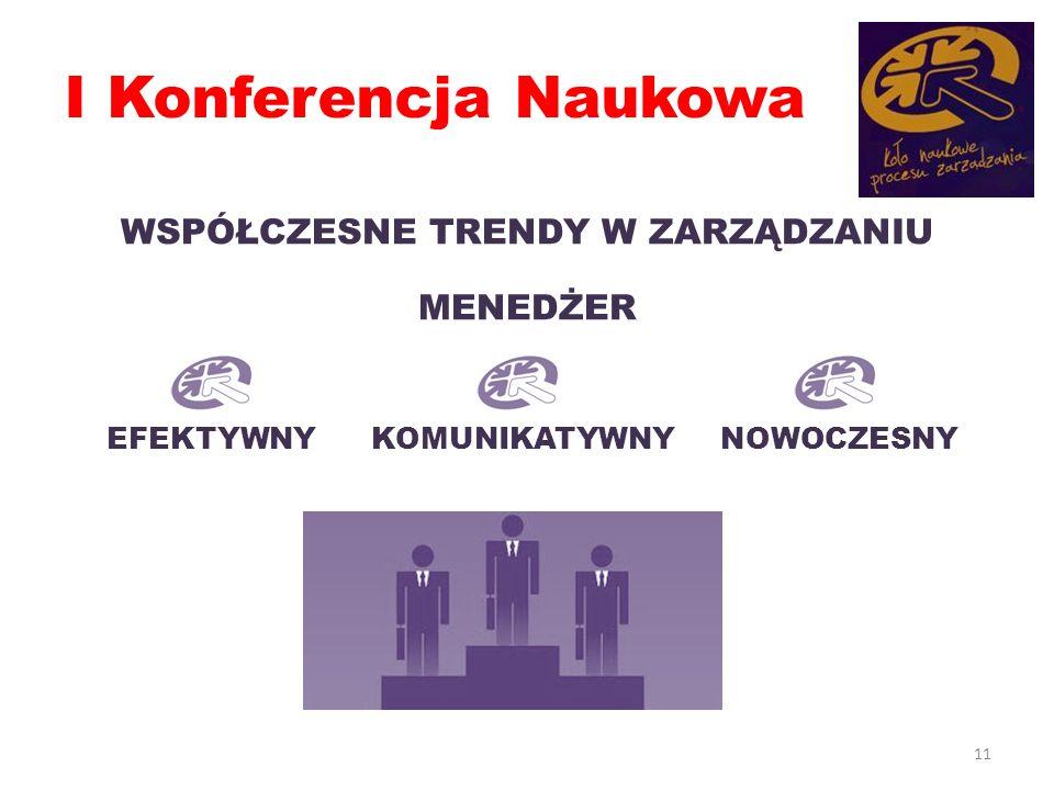 I Konferencja Naukowa WSPÓŁCZESNE TRENDY W ZARZĄDZANIU MENEDŻER 11 EFEKTYWNYKOMUNIKATYWNYNOWOCZESNY