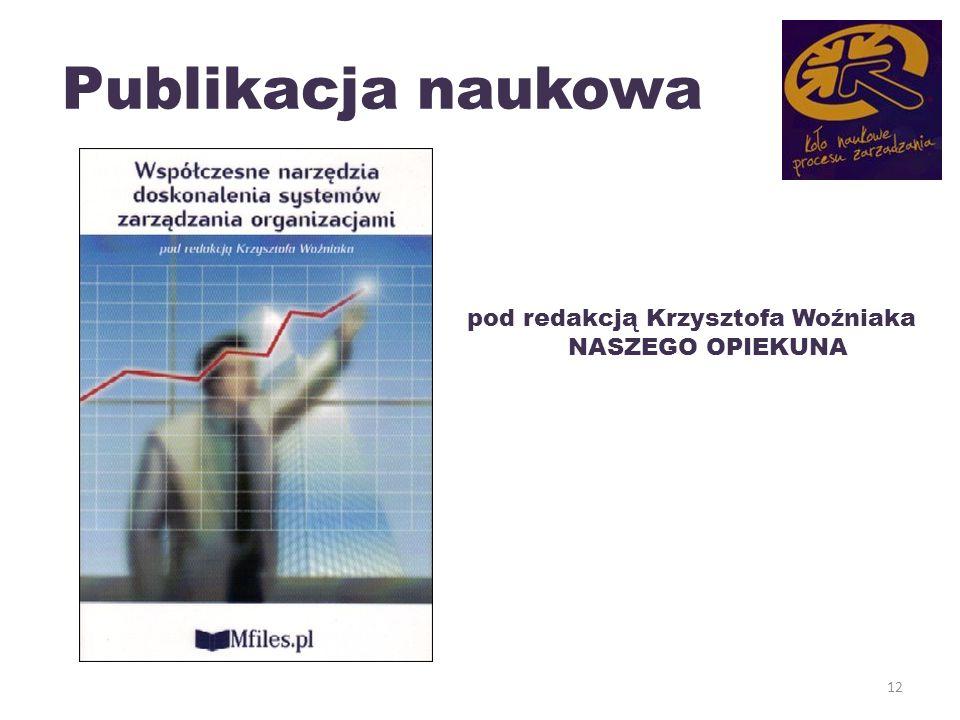 Publikacja naukowa 12 pod redakcją Krzysztofa Woźniaka NASZEGO OPIEKUNA