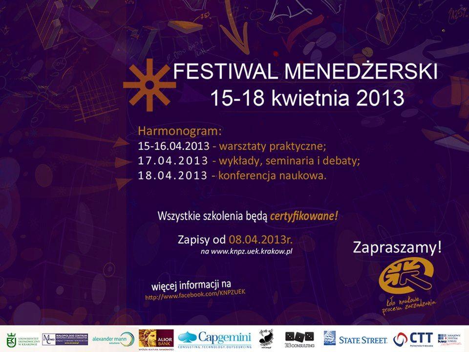 Festiwal Menedżerski 2013 14