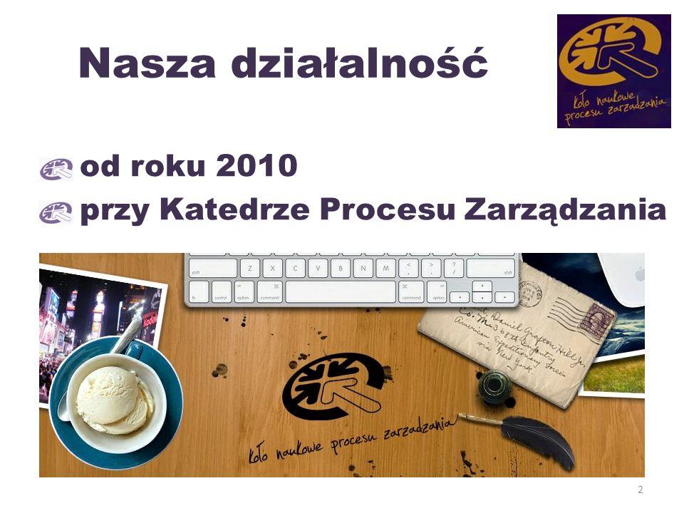 Nasza działalność od roku 2010 przy Katedrze Procesu Zarządzania 2