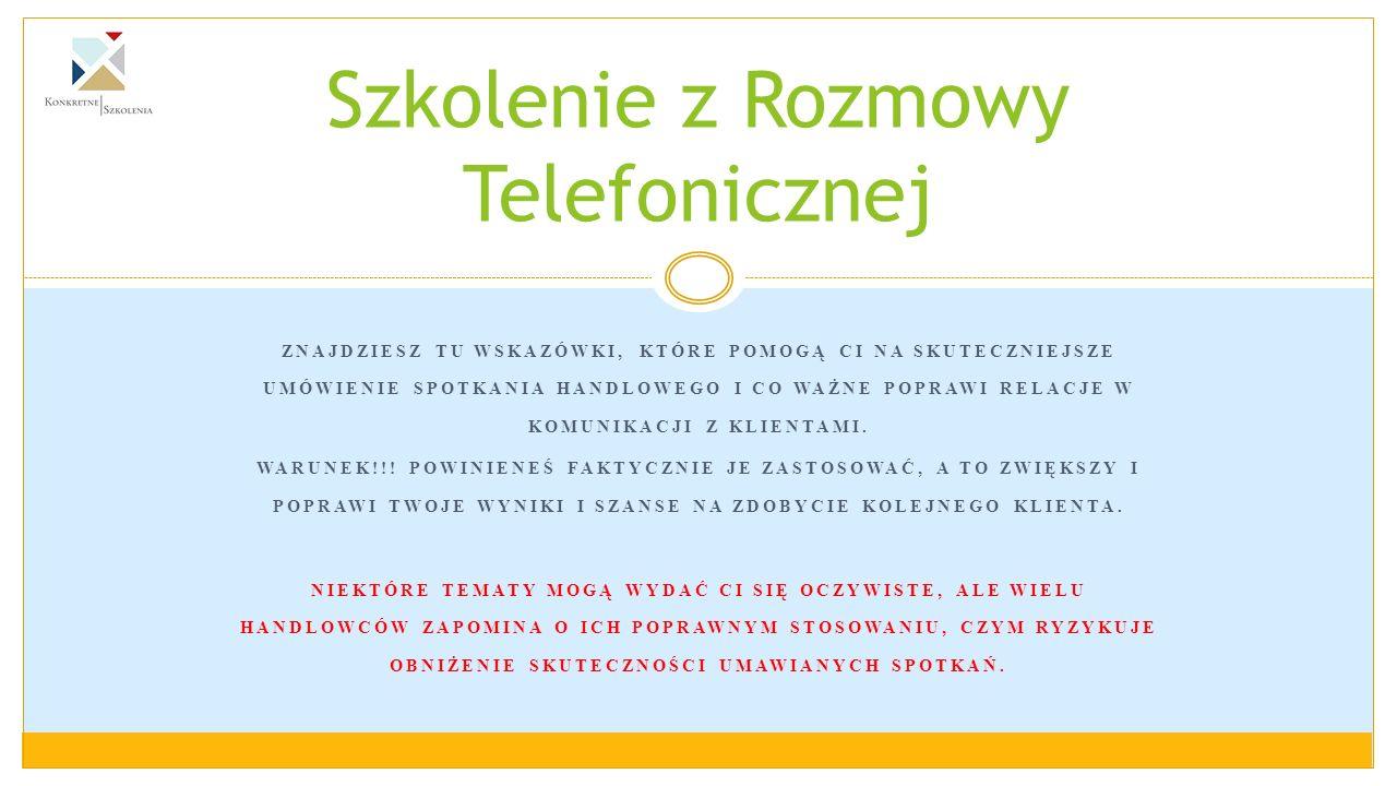 WMÓWIENIE SPOTKANIA SKŁADA SIĘ Z PIĘCIU KROKÓW.2.