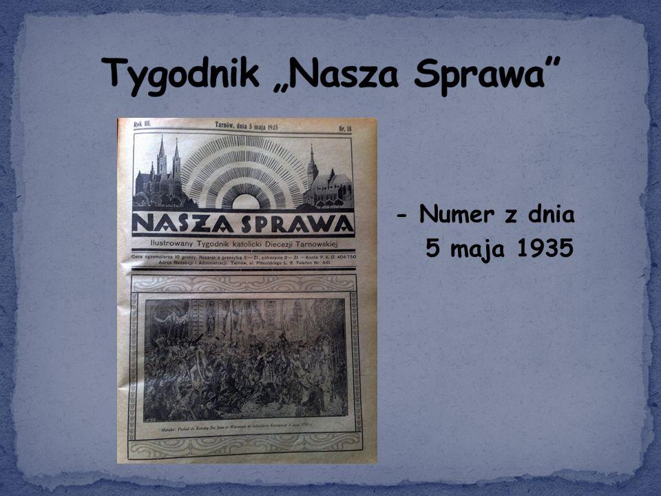 - Numer z dnia 5 maja 1935