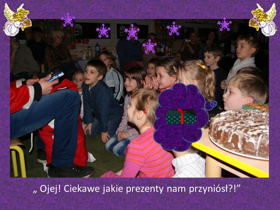 Klasa 0 C Dzieci nie mogły się doczekać wizyty Świętego Mikołaja
