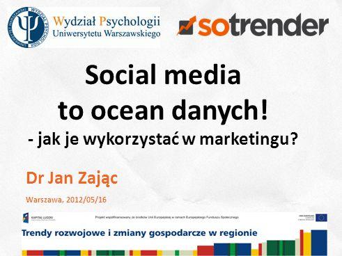 2 Social media to ocean danych. - jak je wykorzystać w marketingu.