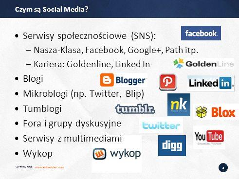 3 Serwisy społecznościowe (SNS): –Nasza-Klasa, Facebook, Google+, Path itp.