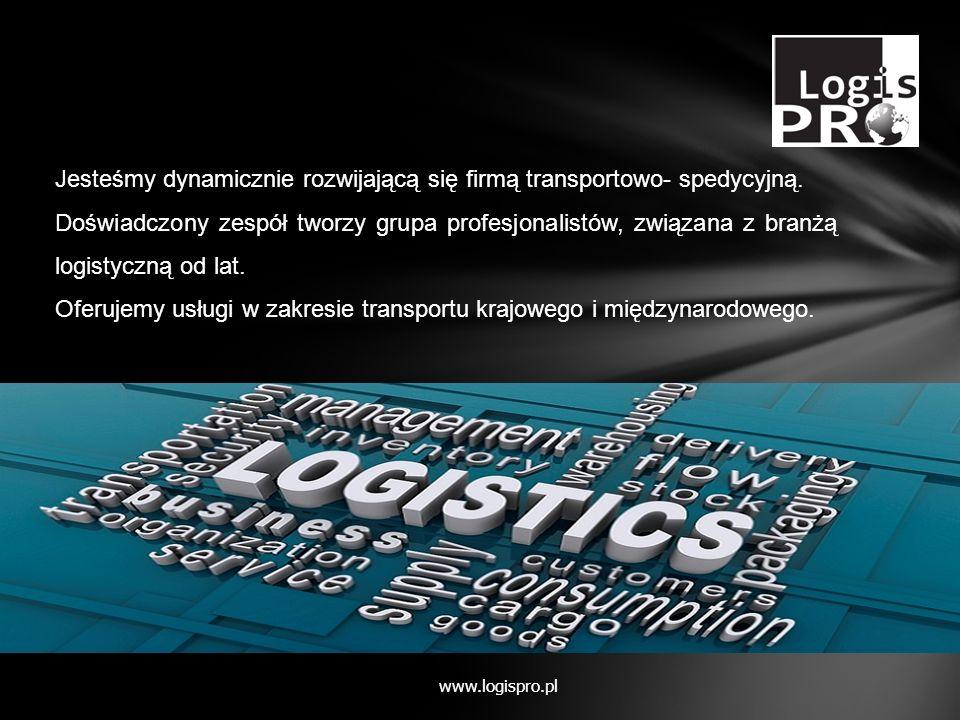 Jesteśmy dynamicznie rozwijającą się firmą transportowo- spedycyjną. Doświadczony zespół tworzy grupa profesjonalistów, związana z branżą logistyczną