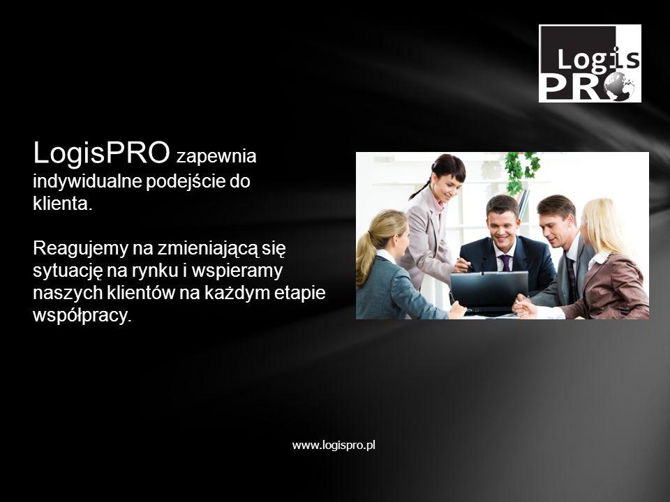 LogisPRO zapewnia indywidualne podejście do klienta. Reagujemy na zmieniającą się sytuację na rynku i wspieramy naszych klientów na każdym etapie wspó