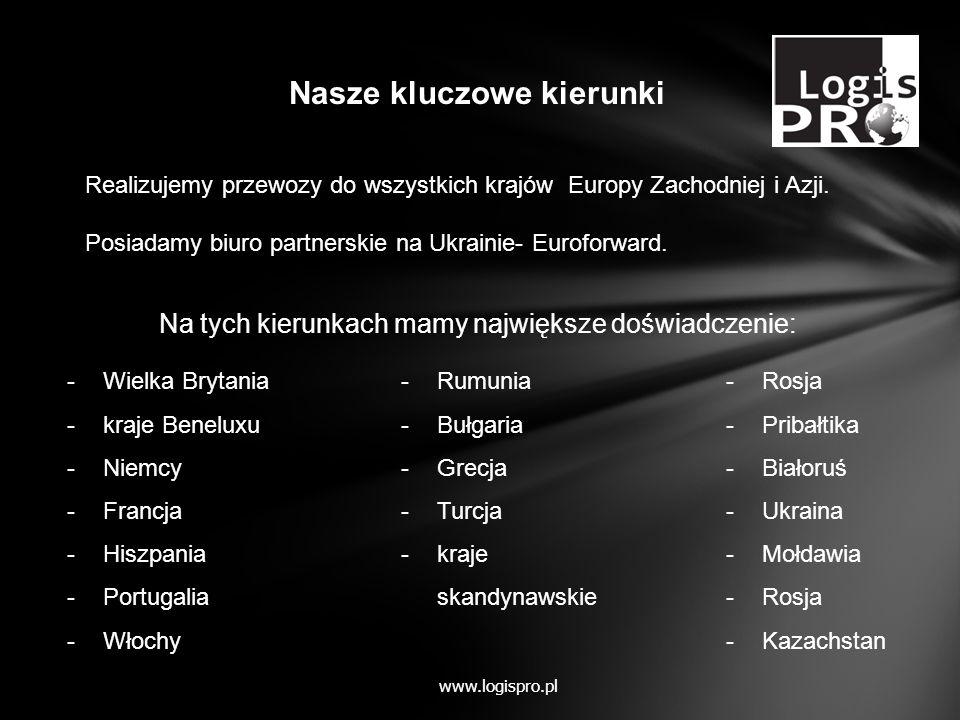 Usługi magazynowe www.logispro.pl Składowanie Co-packing Naszym klientom oferujemy możliwość korzystania z magazynu w okolicach Warszawy.