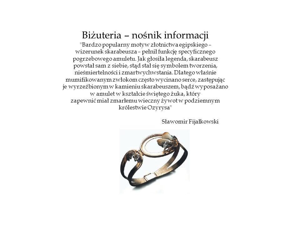 Biżuteria – nośnik informacji
