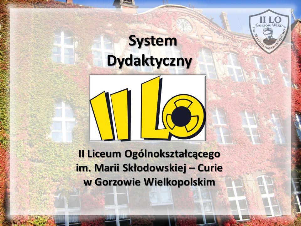 W II LO – tak jak w każdym liceum ogólnokształcącym – obowiązuje trzyletni cykl kształcenia.