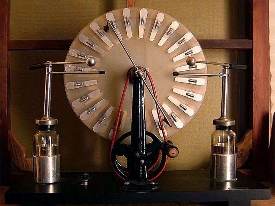 Jeden człowiek może rozkręcić maszyną tak, aby iskry długości paru centymetrów przeskakiwały co ćwierć sekundy. Daje to moc około 1 W Jeden człowiek m