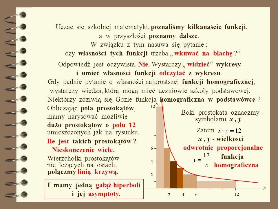 Granica funkcji a wykres. Asymptoty Postaraj się przewidzieć co pojawi się w następnym polu tekstowym.
