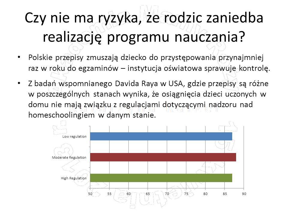 Czy nie ma ryzyka, że rodzic zaniedba realizację programu nauczania? Polskie przepisy zmuszają dziecko do przystępowania przynajmniej raz w roku do eg