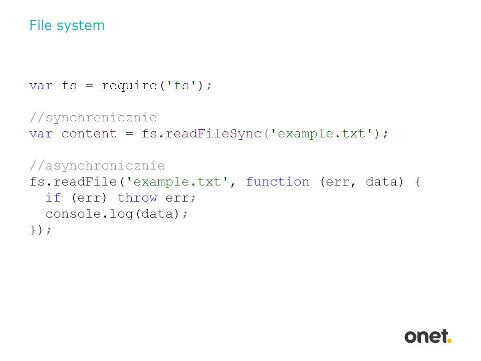 Server var http = require( http ); var url = require( url ); var status = none ; http.createServer(function (req, res) { //ustawiamy nowy status var params = url.parse(req.url, true); if(params.hasOwnProperty( set_status )){ status = params[ set_status ]; } //zwracamy aktualny status res.writeHead(200, { Content-Type : text/plain }); res.end(status); }).listen(80, 127.0.0.1 );