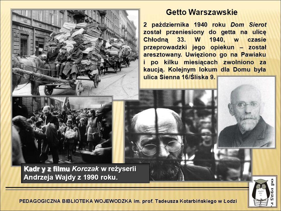 2 października 1940 roku Dom Sierot został przeniesiony do getta na ulicę Chłodną 33. W 1940, w czasie przeprowadzki jego opiekun – został aresztowany