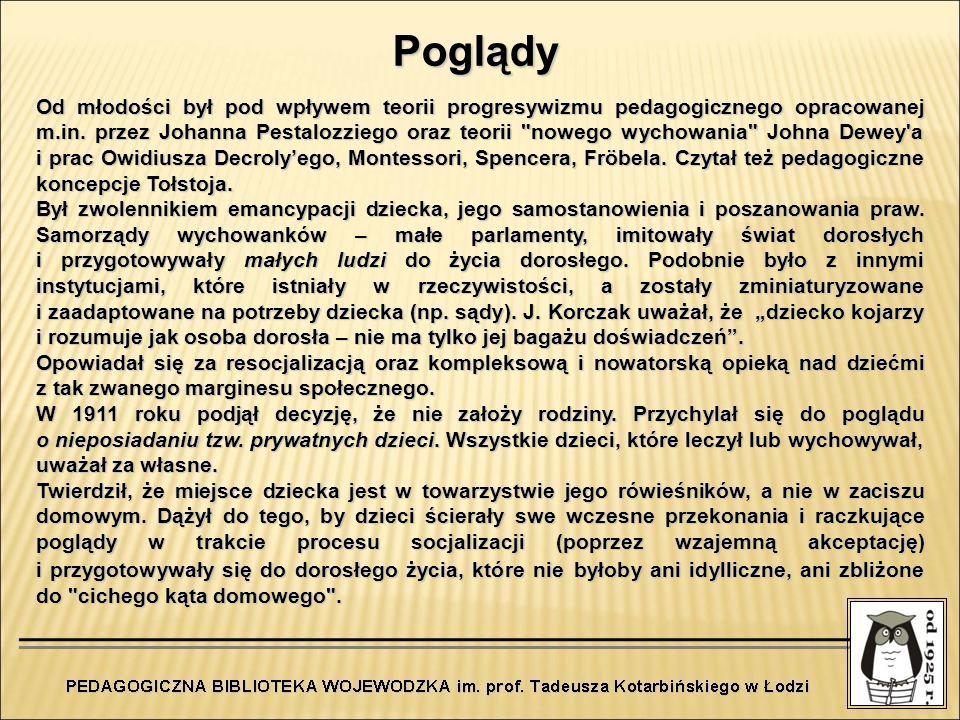 Od młodości był pod wpływem teorii progresywizmu pedagogicznego opracowanej m.in. przez Johanna Pestalozziego oraz teorii