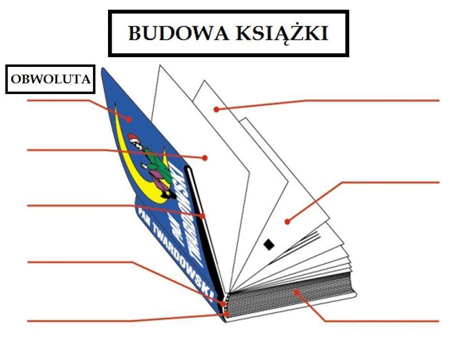 OBWOLUTA – papierowa ochrona oprawy książki, barwnie ilustrowana i przyciągająca wzrok wizytówka książki, nałożona jest na okładkę, pełni równocześnie funkcję reklamową i zdobniczą.