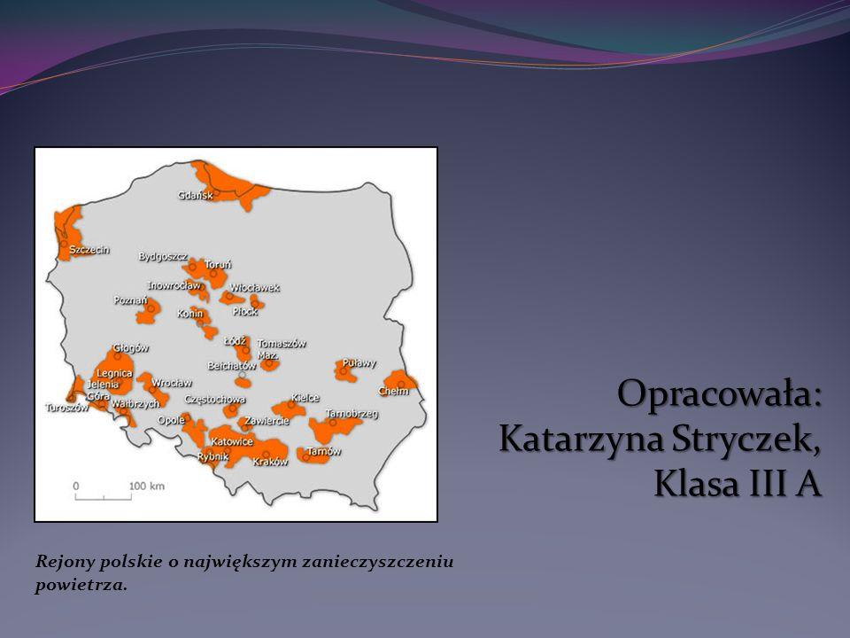 Rejony polskie o największym zanieczyszczeniu powietrza.