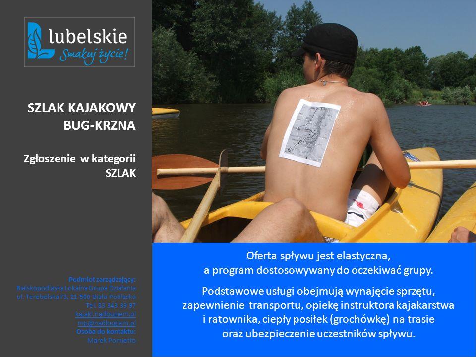 Oferta spływu jest elastyczna, a program dostosowywany do oczekiwać grupy. Podstawowe usługi obejmują wynajęcie sprzętu, zapewnienie transportu, opiek