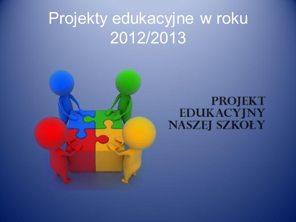 Projekty edukacyjne w roku 2012/2013