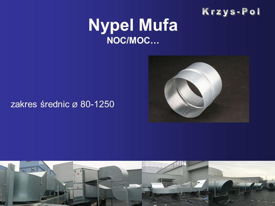 Nypel Mufa NOC/MOC… zakres średnic Ø 80-1250