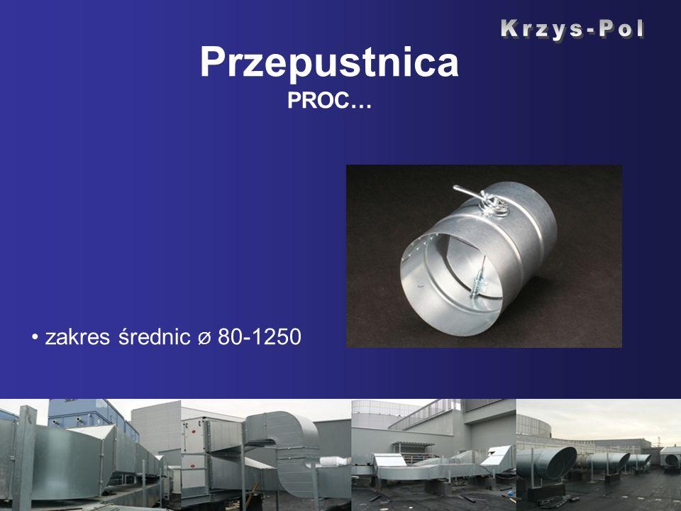 Przepustnica PROC… zakres średnic Ø 80-1250
