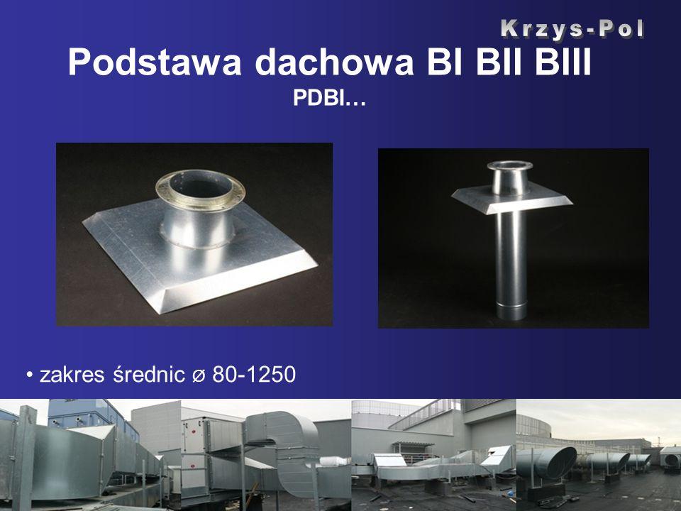 Podstawa dachowa BI BII BIII PDBI… zakres średnic Ø 80-1250