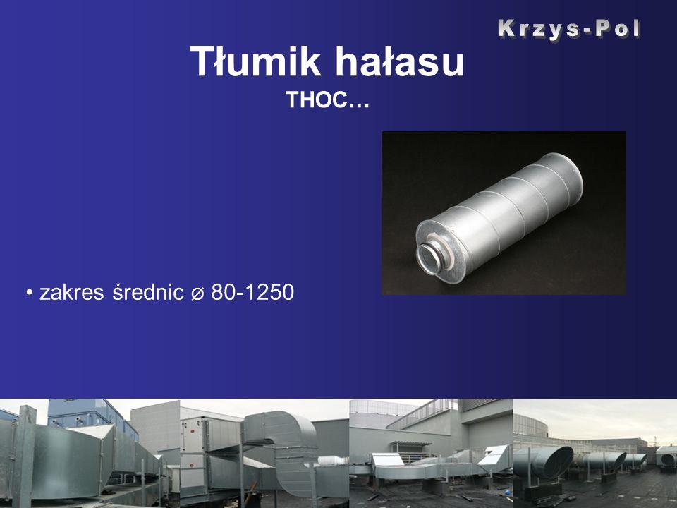 Tłumik hałasu THOC… zakres średnic Ø 80-1250