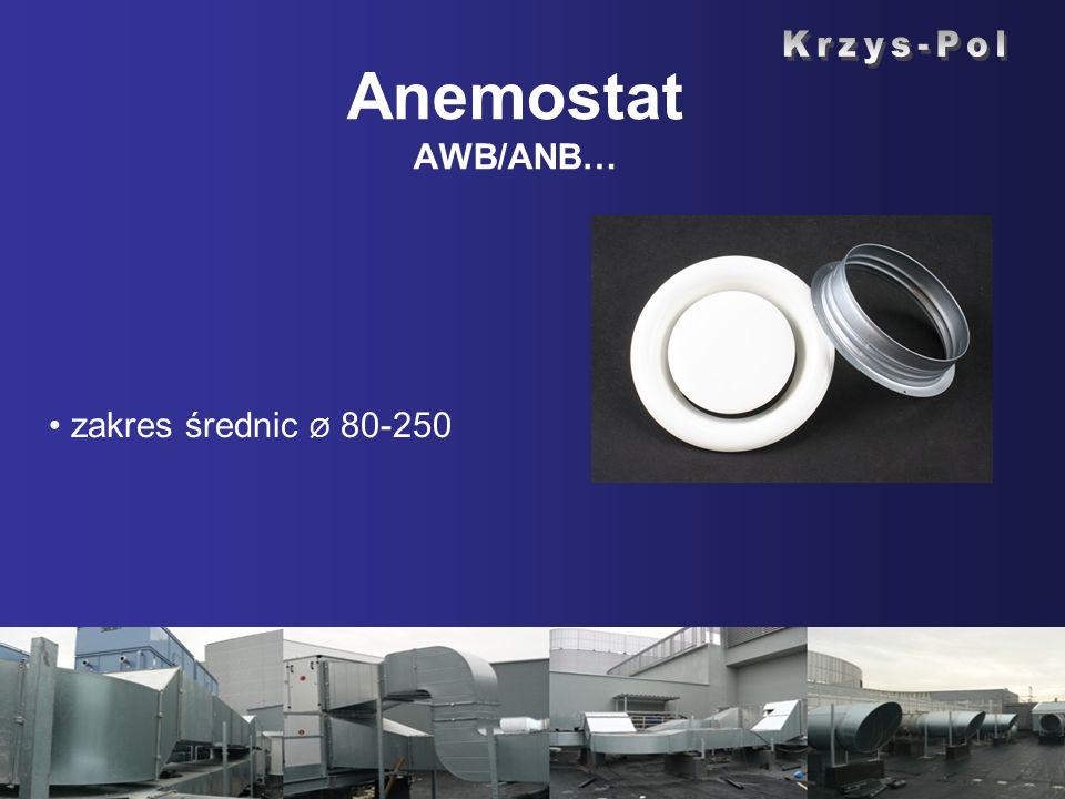 Anemostat AWB/ANB… zakres średnic Ø 80-250