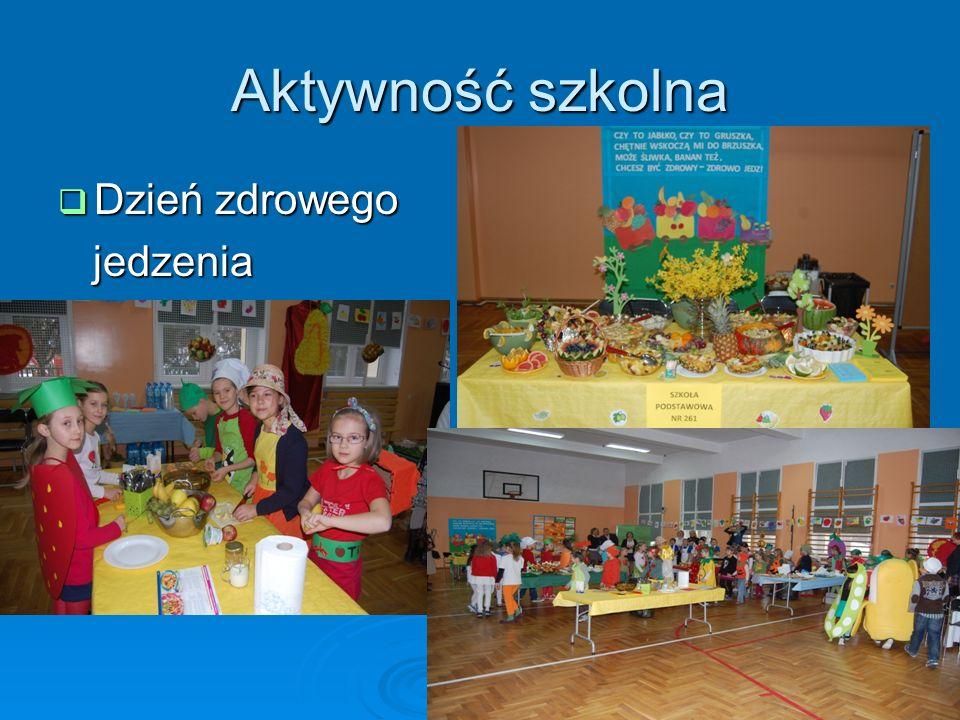 Aktywność szkolna Dzień zdrowego Dzień zdrowego jedzenia jedzenia