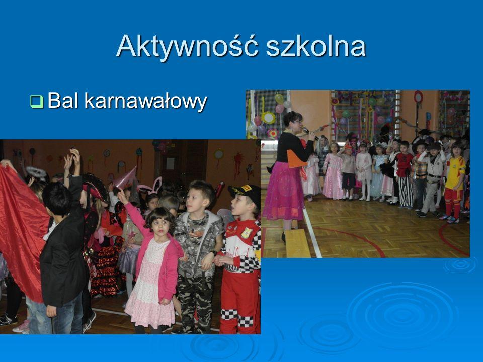 Aktywność szkolna Bal karnawałowy Bal karnawałowy