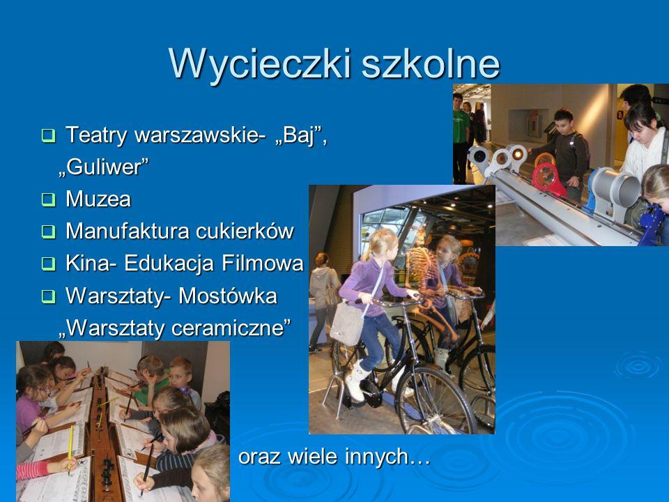 Wycieczki szkolne Teatry warszawskie- Baj, Teatry warszawskie- Baj, Guliwer Guliwer Muzea Muzea Manufaktura cukierków Manufaktura cukierków Kina- Eduk