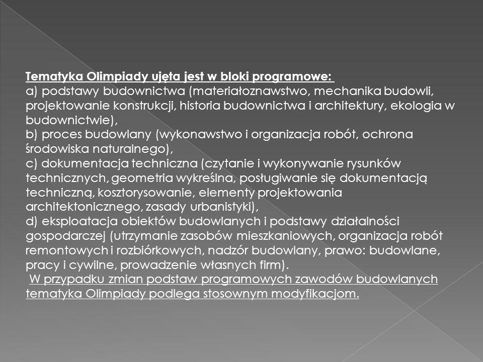 Organizatorem Olimpiady jest Wydział Inżynierii Lądowej Politechniki Warszawskiej.