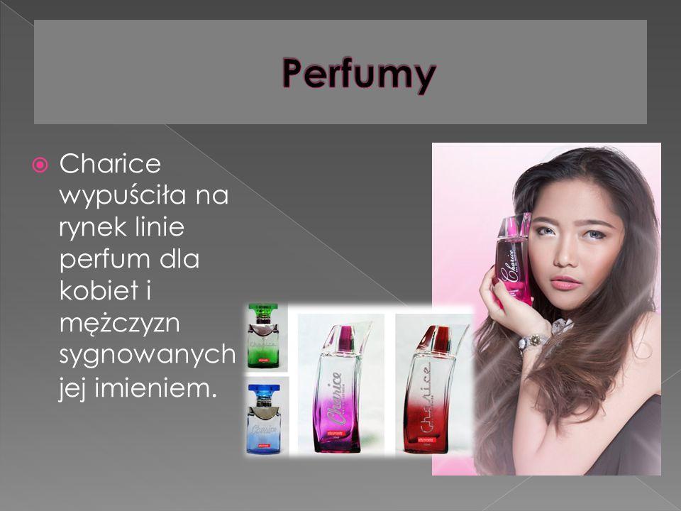 Charice wypuściła na rynek linie perfum dla kobiet i mężczyzn sygnowanych jej imieniem.