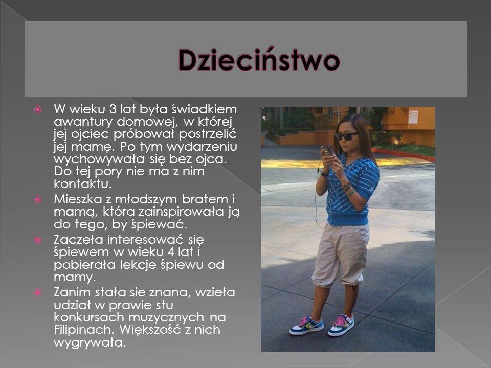 W wieku 3 lat była świadkiem awantury domowej, w której jej ojciec próbował postrzelić jej mamę.