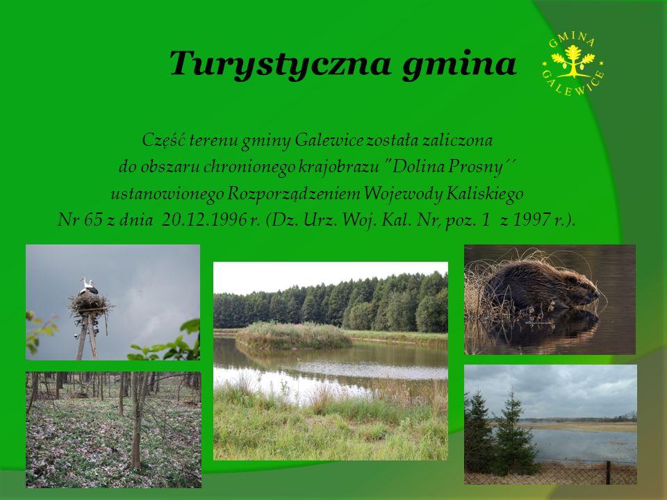 Turystyczna gmina Część terenu gminy Galewice została zaliczona do obszaru chronionego krajobrazu