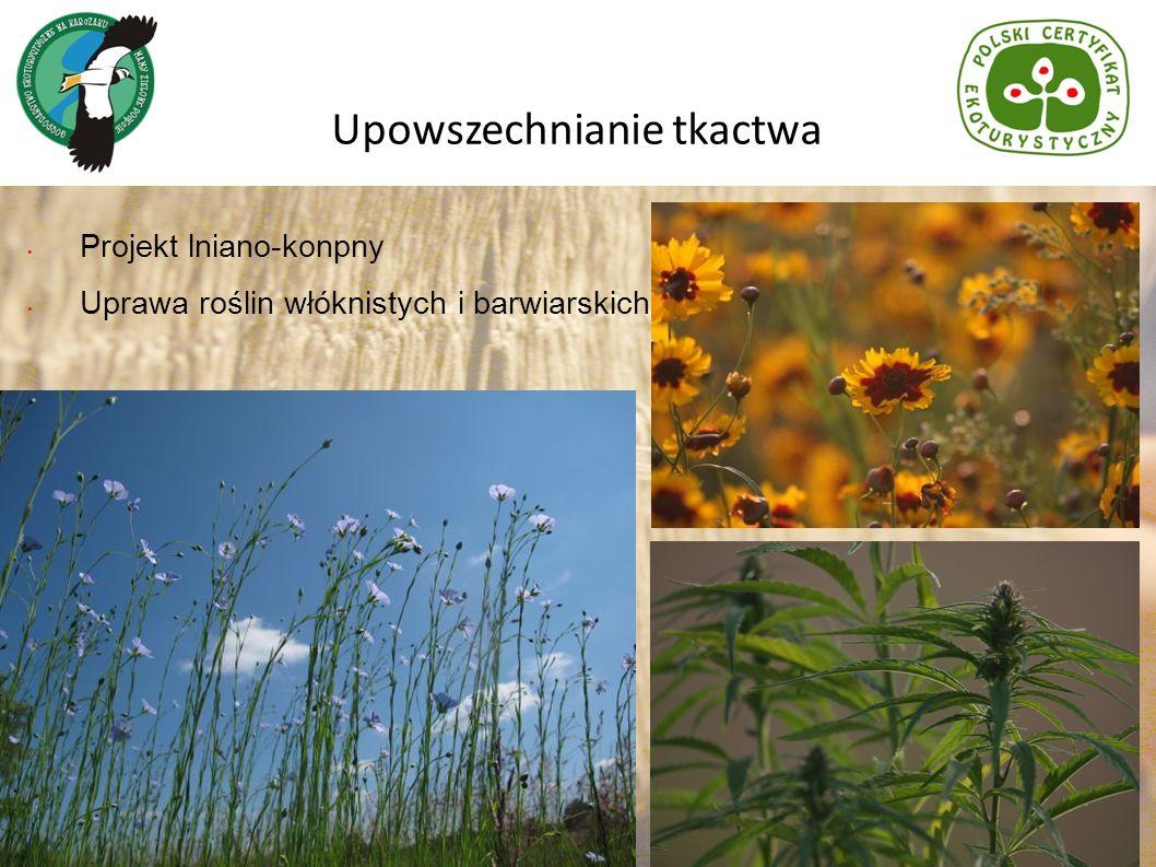 Projekt lniano-konpny Uprawa roślin włóknistych i barwiarskich Upowszechnianie tkactwa