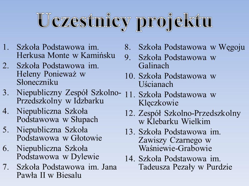 1.Szkoła Podstawowa im.Herkusa Monte w Kamińsku 2.Szkoła Podstawowa im.