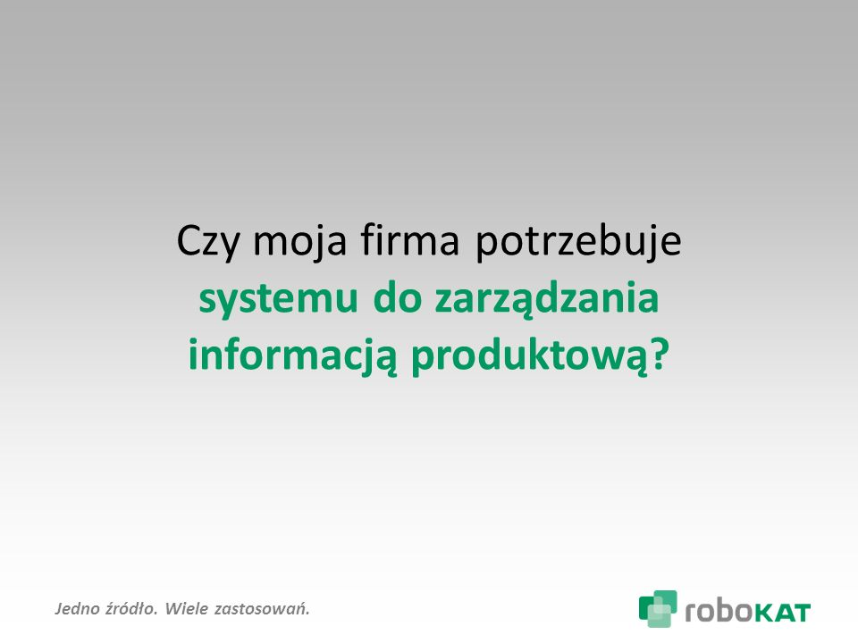 Product Information Management PIM Master Data Management Klasyfikacje ETIM, eCl@ss Automatyzacja publikowania