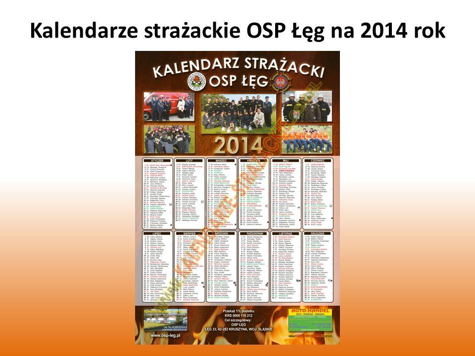 Kalendarze strażackie OSP Łęg na 2014 rok