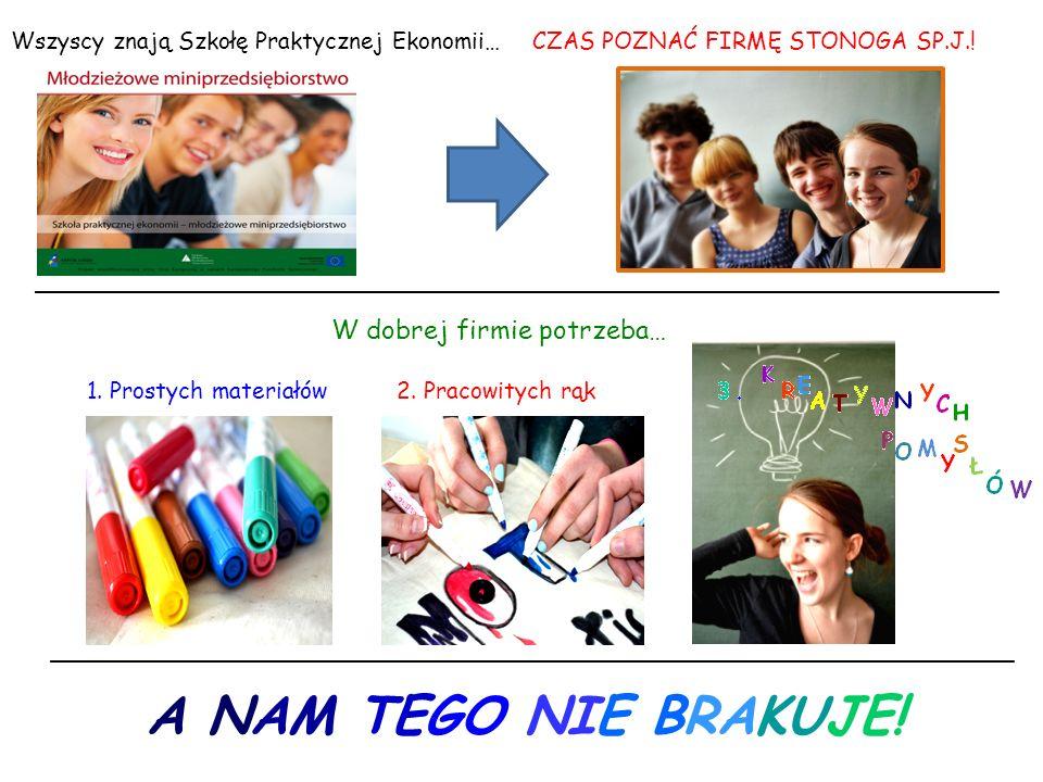 Wszyscy znają Szkołę Praktycznej Ekonomii…CZAS POZNAĆ FIRMĘ STONOGA SP.J..