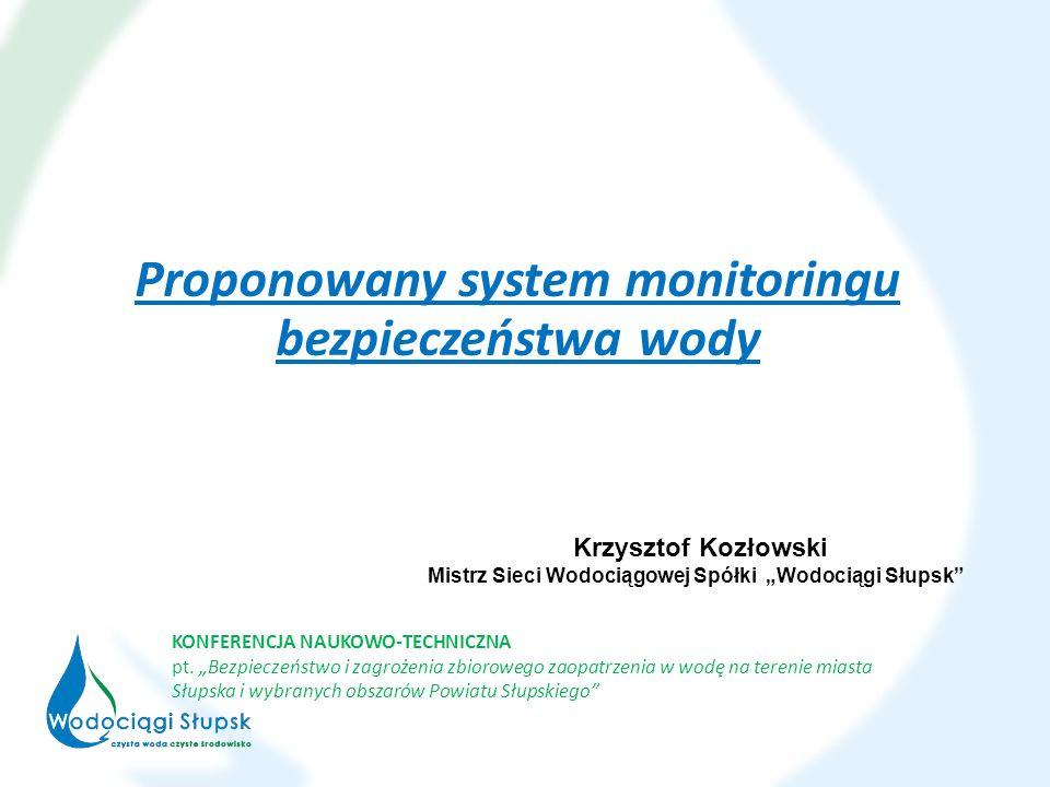 Proponowany system monitoringu bezpieczeństwa wody KONFERENCJA NAUKOWO-TECHNICZNA pt.