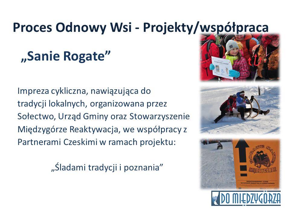 Proces Odnowy Wsi - Projekty/współpraca Sanie Rogate Impreza cykliczna, nawiązująca do tradycji lokalnych, organizowana przez Sołectwo, Urząd Gminy or