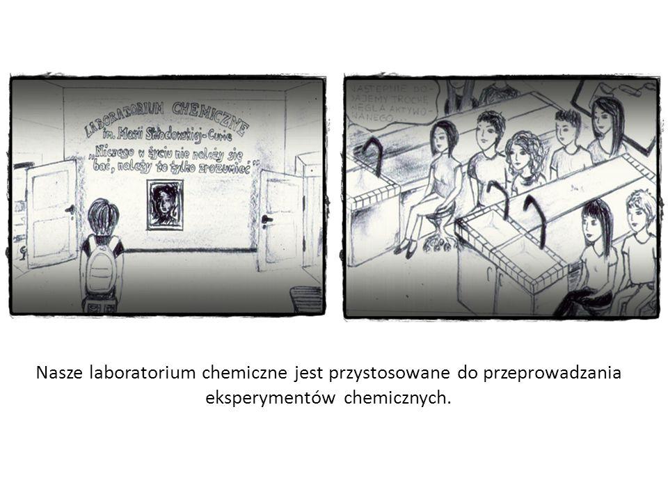 Nasze laboratorium chemiczne jest przystosowane do przeprowadzania eksperymentów chemicznych.
