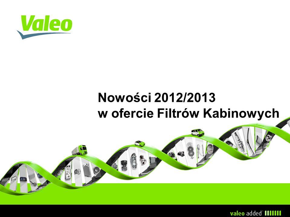 Nowości 2012/2013 w ofercie Filtrów Kabinowych